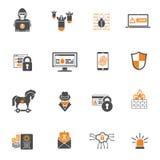互联网安全象集合 库存例证