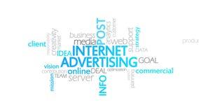互联网广告,生气蓬勃的印刷术 库存例证