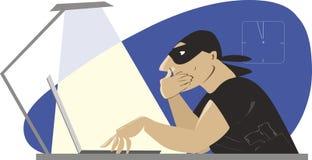 互联网强盗 向量例证