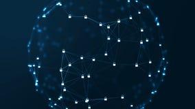 互联网技术网络和网络安全概念 向量例证