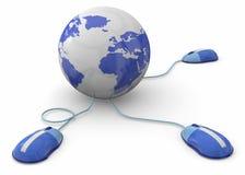 互联网概念- 3D 库存图片