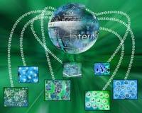 互联网球形 免版税图库摄影
