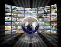 互联网生产技术电视 免版税库存图片