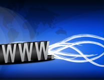 互联网电汇 免版税库存图片