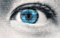 互联网瘾眼睛01 免版税库存图片
