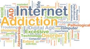 互联网瘾背景概念 库存照片