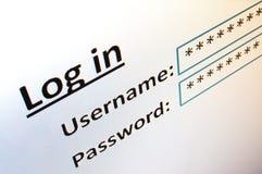互联网登录网站 免版税库存照片