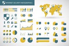 互联网相关infographics成套工具 库存图片
