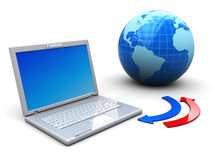 互联网移动电话 免版税库存图片