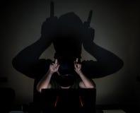 互联网网络恶魔 免版税图库摄影