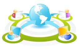 互联网网络连接模式 免版税图库摄影