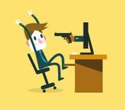 互联网罪行概念的受害者 免版税库存图片