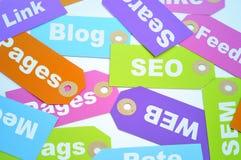 互联网营销和网站等级 库存图片