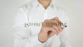 互联网营销,写在玻璃 库存图片