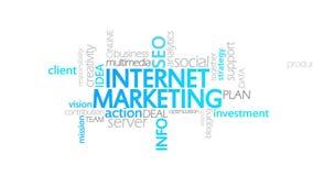 互联网营销,生气蓬勃的印刷术 向量例证