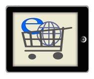互联网购物概念例证 库存图片