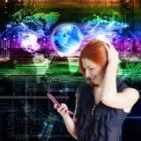 互联网连接技术 免版税库存图片