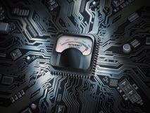 互联网速度水平连接概念 最大互联网速度 库存图片