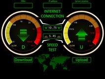 互联网速度测试模板 库存图片