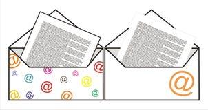 互联网邮费信件 免版税库存图片