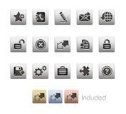 互联网金属加上系列选址万维网 免版税库存图片