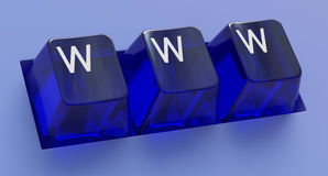 互联网锁上万维网 免版税库存照片
