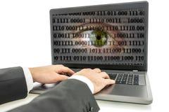 互联网间谍活动 免版税库存照片