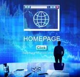 互联网HTML主页浏览器大数据概念 库存图片