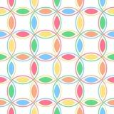 互锁柔和的淡色彩的圈子 库存例证