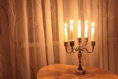 五个圣诞节蜡烛 免版税库存照片