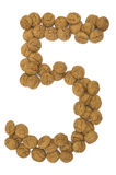 五个姜编号螺母 库存照片