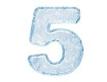 五个字体冰编号 免版税库存图片