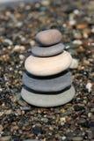 五个小卵石 库存图片