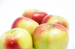 五个新鲜的苹果 免版税库存图片