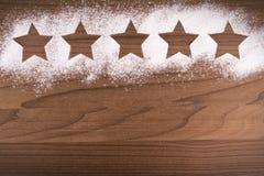 五个星在烹调背景的产品质量规定值 免版税图库摄影