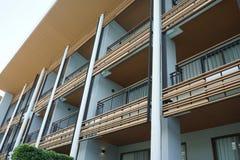 五个星旅馆和手段外部buidling的设计  免版税库存照片