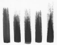五个油漆冲程 库存照片