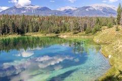 五个湖的谷 图库摄影