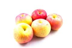 五个红色苹果 免版税库存图片