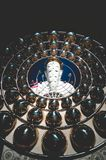 五个菩萨雕象黑暗的口气Khao Kho Phetchabun 库存图片