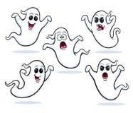 五个飞行的鬼魂 免版税库存图片
