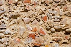 五乡地意大利:典型的墙壁石头 库存照片
