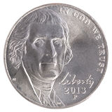 五分硬币自由 库存照片