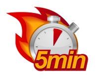 五分钟定时器 免版税库存图片