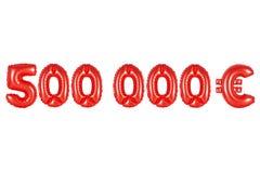 五十万欧元,红颜色 库存图片
