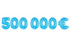 五十万欧元,蓝色颜色 图库摄影