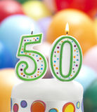 五十个生日生日 免版税库存照片