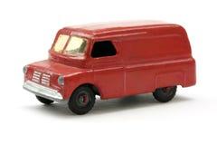 五十年代红色减速火箭的60戏弄有篷货车 免版税库存照片