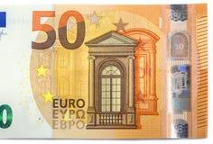 五十欧元新的钞票  免版税库存图片
