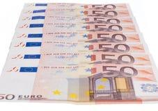 五十欧元行 免版税库存照片
